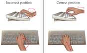 Carpal Tunnel Prevention: Ergonomic Hand Position at Keyboard