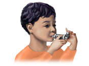 Asthma Inhaler for a Child